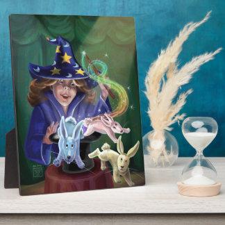 Magische Taten-Kaninchen vom Hut Fotoplatte