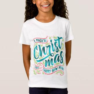 Magische Weihnachtstypographie aquamarines ID441 T-Shirt