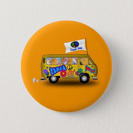 Magischer Hippie Van Runder Button 5,7 Cm