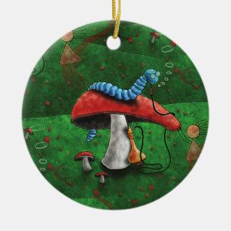 Magischer Pilz Keramik Ornament