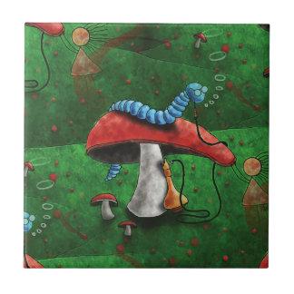 Magischer Pilz Kleine Quadratische Fliese