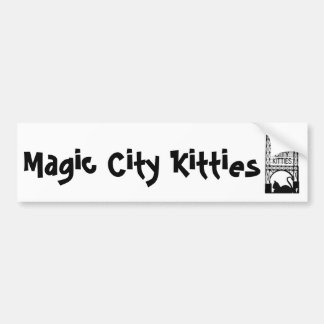 Magischer Stadt-Kätzchen-Autoaufkleber Autoaufkleber