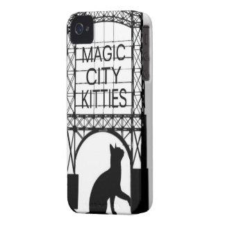 Magischer Stadt-Kätzchen-Telefon-Kasten iPhone 4 Hülle