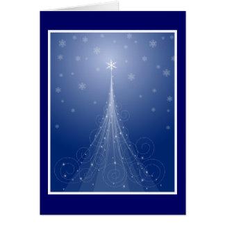 Magischer Stern abgewischter Weihnachtsbaum Karte