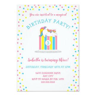 Magisches Baby Unicorn-Geburtstags-Party, Kuchen + Karte