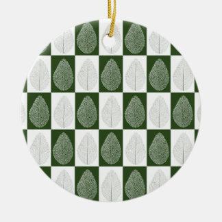 Magisches Blatt auf Grün Keramik Ornament