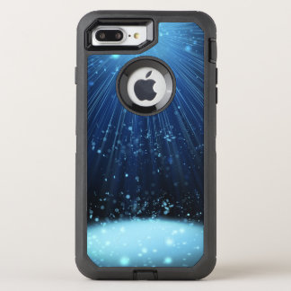 Magisches blaues abstraktes OtterBox defender iPhone 8 plus/7 plus hülle