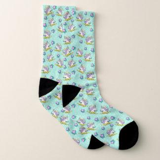 Magisches glückliches Einhorn und Sterne Socken