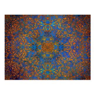 magisches Mandalablau Postkarte