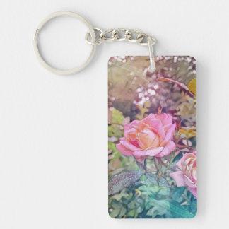 magisches Rose keychain Schlüsselanhänger