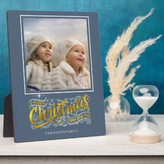 Magisches Weihnachtstypographie-Foto-Gold ID441 Fotoplatte