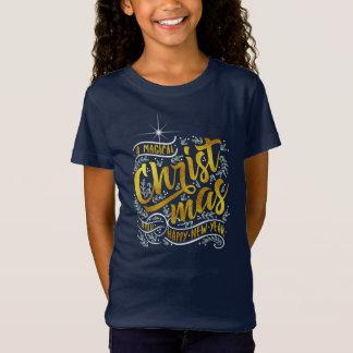 Magisches Weihnachtstypographie-Gold ID441 T-Shirt