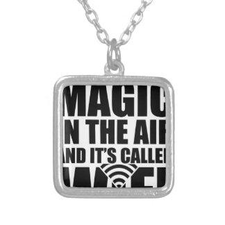 Magisches wifi versilberte kette