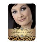 Magnet élégant de photo de léopard