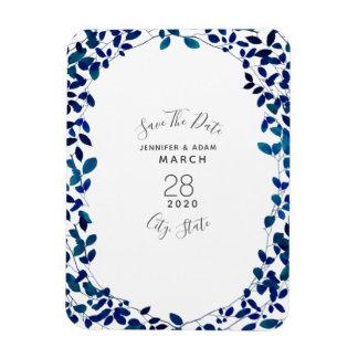 Magnet Flexible Économies botaniques bleues de mariage l'aimant de