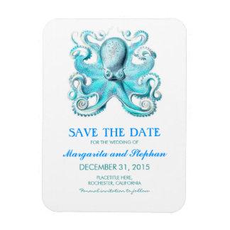 Magnet Flexible Économies de plage de turquoise de poulpe la date