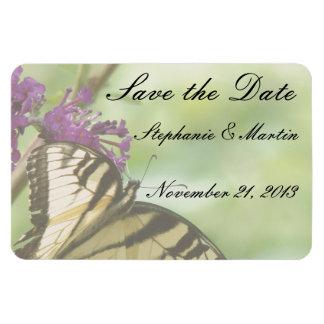 Magnet Flexible Économies florales de fleurs de papillon la date