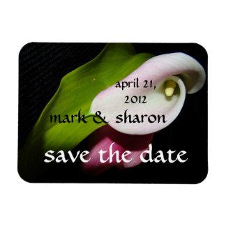 Magnet Flexible Économies florales de jardin de fleurs la date