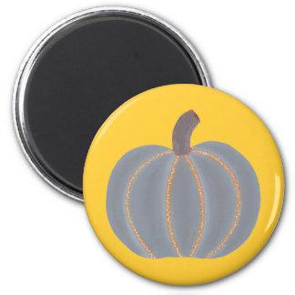 Magnet gris de Halloween de lumières oranges de Magnet Rond 8 Cm