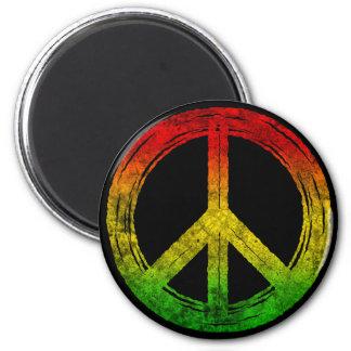 Magnet grunge frais de symbole de paix de Rasta de