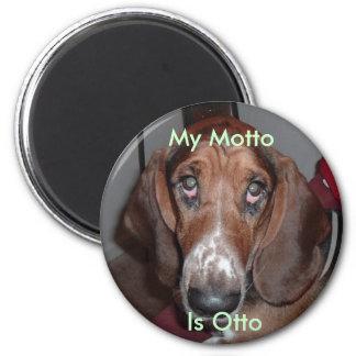 Magnet: Mein Motto ist Otto Runder Magnet 5,1 Cm