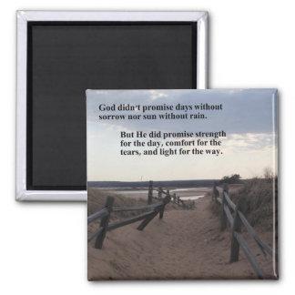Magnet mit Weg zum See - Versprechen des Gottes