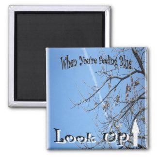 Magnet, zum des Komforts zu geben; Gefühlblau, Quadratischer Magnet