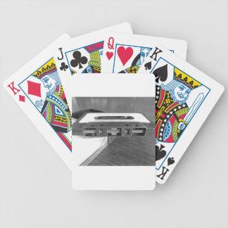 Magnetbandnahaufnahme der Vintagen Audiokassette Bicycle Spielkarten