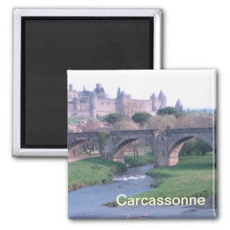 Magneten Carcassonne Frankreich Quadratischer Magnet