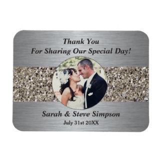 Magnetische Hochzeits-Fotografie danken Ihnen Eckige Magnete