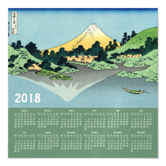 Magnetkarte 2018 Hokusai Kalenders Magnetische Karte