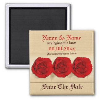 Magnetschablone - kundengerechte Rote Rosen Kühlschrankmagnete