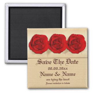 Magnetschablone - kundengerechte Rote Rosen Magnets
