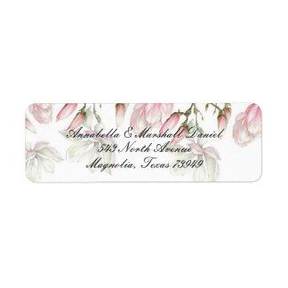 Magnolien-Adresse Lables