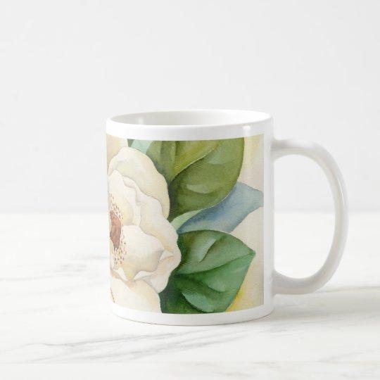 Magnolien-Blumewatercolor-Malerei-Kaffee-Tasse Tasse