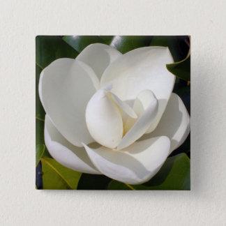 Magnolien-Blüte Quadratischer Button 5,1 Cm