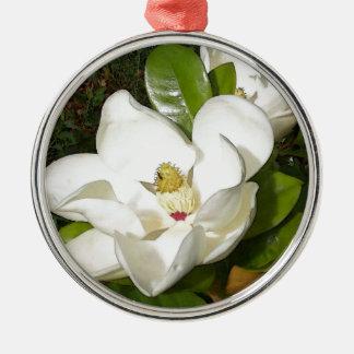Magnolien-Blüte Silbernes Ornament
