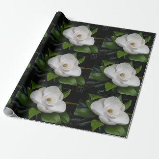 Magnolien-Blüten-Packpapier Geschenkpapier
