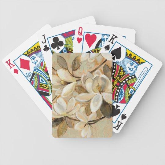 Magnolien-Einfachheits-Creme Bicycle Spielkarten