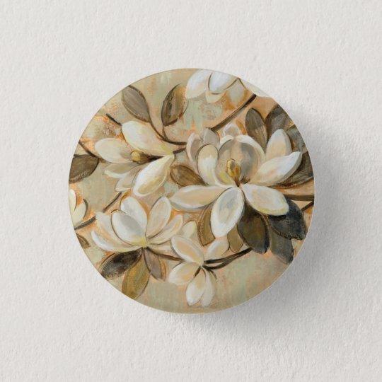 Magnolien-Einfachheits-Creme Runder Button 3,2 Cm
