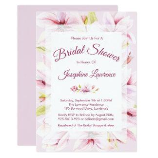 Magnolien-Frühlings-BlumenBrautparty-Einladungen Karte
