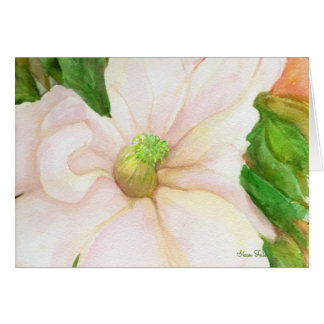 Magnolien-Karte Grußkarte