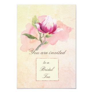 Magnoliewatercolor-Tee-Party Einladung Karte