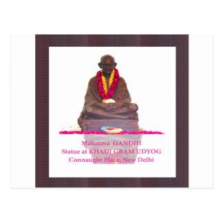 Mahatma- Gandhivater der Nation Indien Postkarte