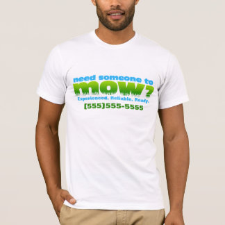 Mähen Sie die Rasenlandschaftsgestaltung. T-Shirt
