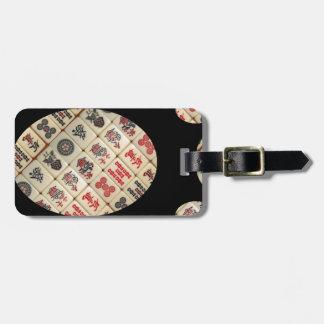 Mahjong Fliesen Kofferanhänger