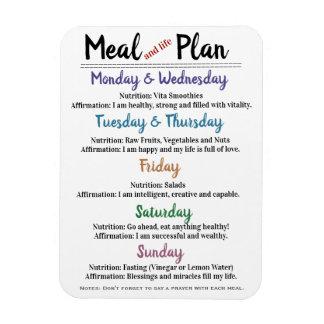 Mahlzeit-Plan mit Bestätigungen Magnet