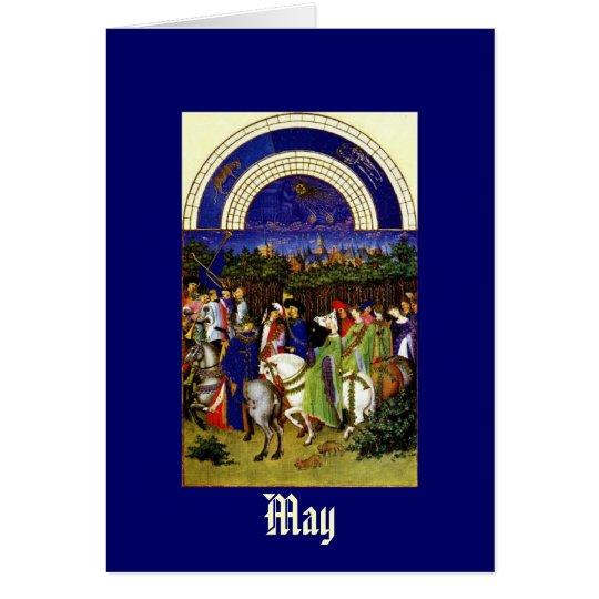 Mai - die Tres Riches Heures du Duc De-Beere Karte