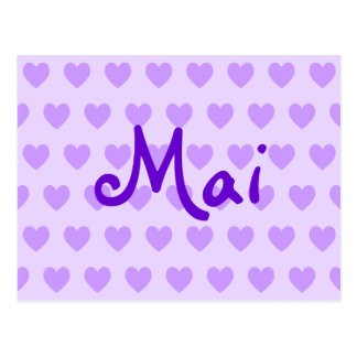 MAI in Lila Postkarte