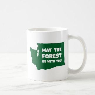 Mai ist der Wald mit Ihnen Washington Kaffeetasse